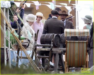 "Exclusive... ""Downton Abbey"" Films A Party"